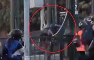 Joven lanzado a río durante protesta en Chile está