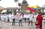 Jubilados protagonizaron una protesta en la Plaza Grande