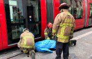 Primera víctima mortal por accidente entre el tranvía y motocicleta