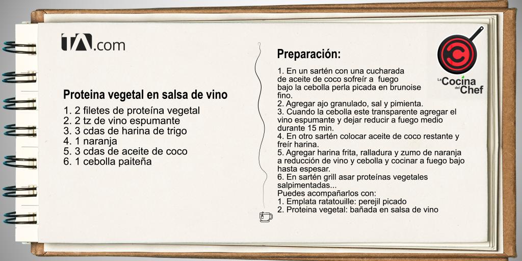 proteína vegetal en salsa de vino